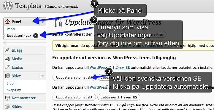 Hur man uppdaterar WordPress