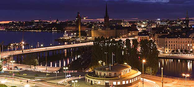 Stockholm sett frn slussen