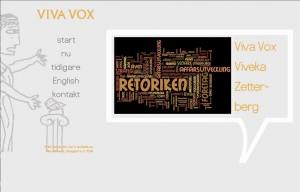 Webbplats för Viva Vox och Viveka Zetterberg